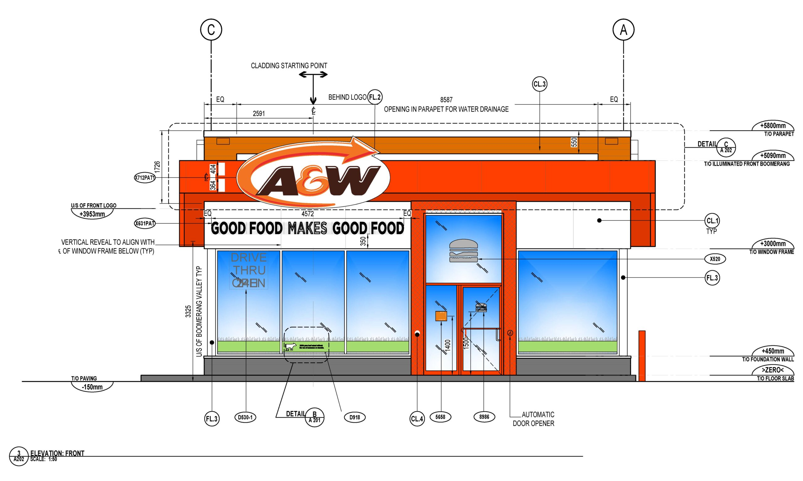 21-1016 Drawing_Front Elevation